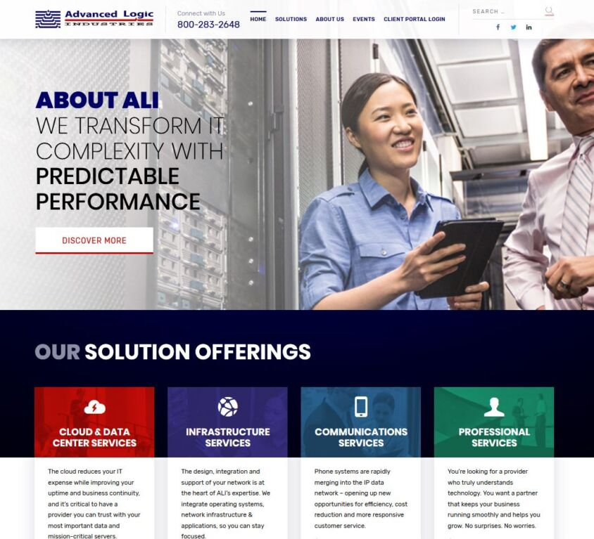Advanced Logic Industries – Website