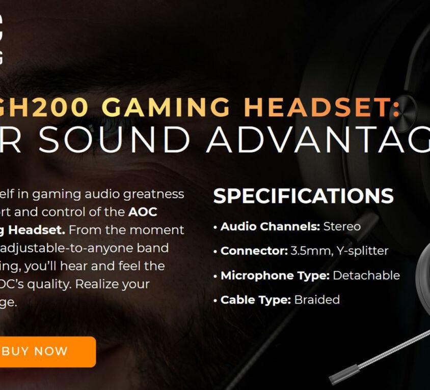 AOC Gaming Headset Microsite